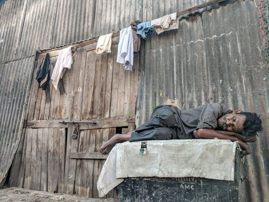 Man in poverty