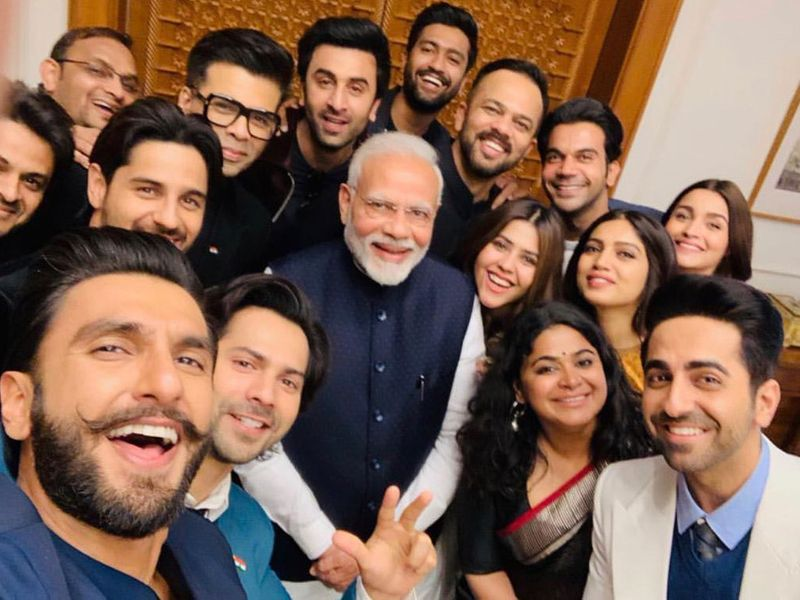 Modi with Bollywood actors