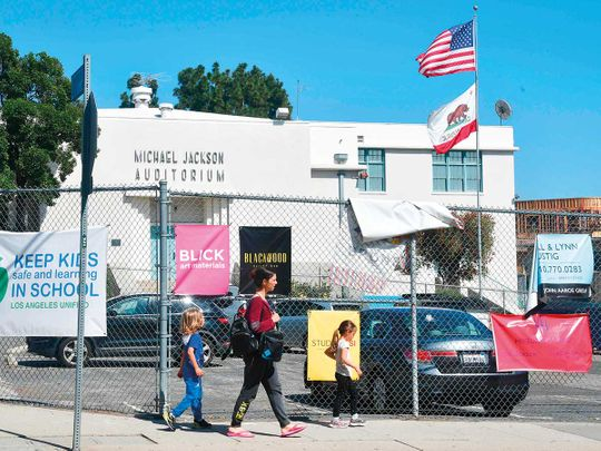 DONT PUBLISH Hollywood school to keep Michael Jackson's name