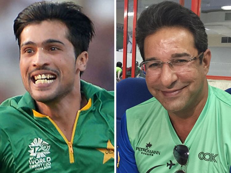 Mohammad Amir and Wasim Akram