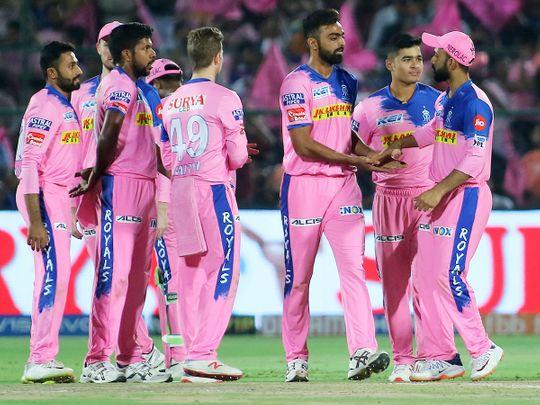 Rajasthan Royals' players celebrate