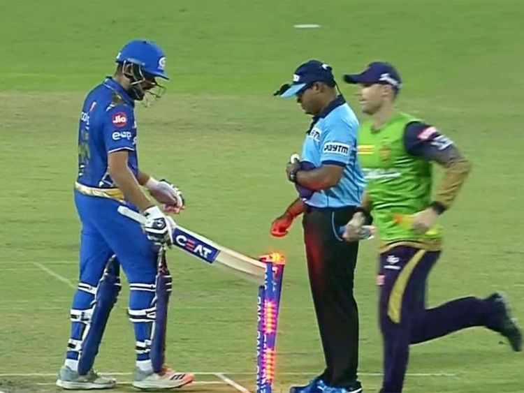 Rohit Sharma fined for hitting stumps after IPL dismissal