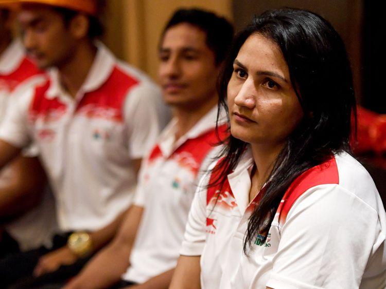 Indian boxer Pooja Rani