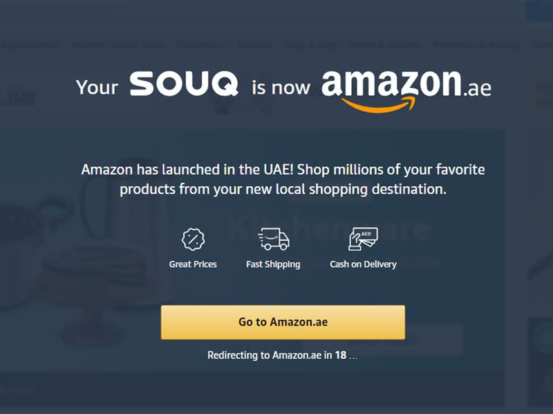 Amazon officially launches in UAE, replaces Souq com