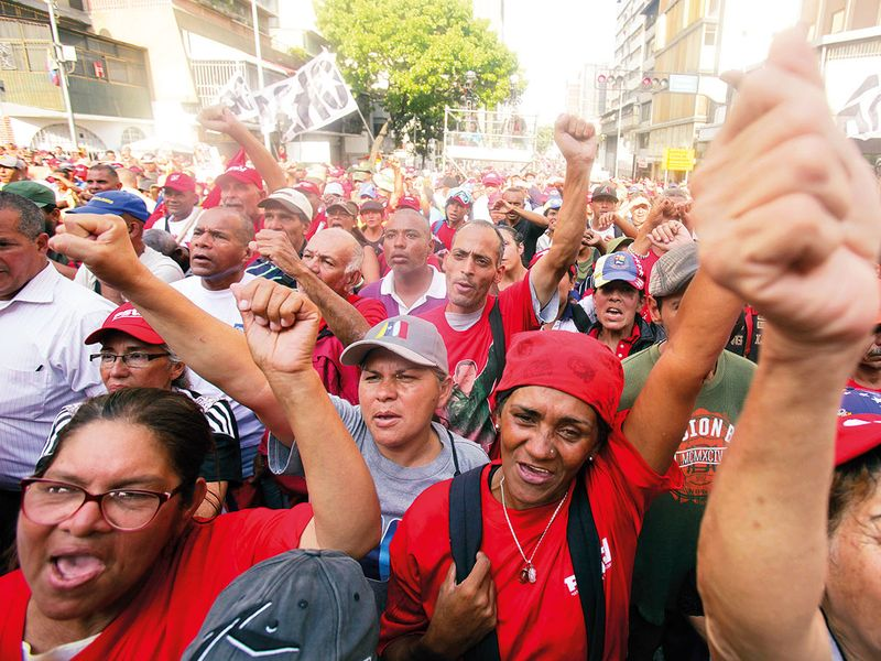 Backers of Venezuela's President Nicolas Maduro rally