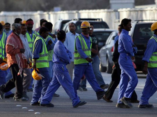 Labourers in the UAE