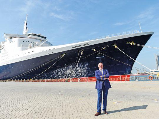 Queen Elizabeth 2 ship in Dubai