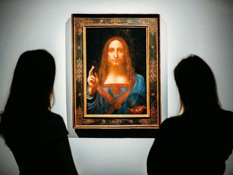 The Salvator Mundi by da Vinci