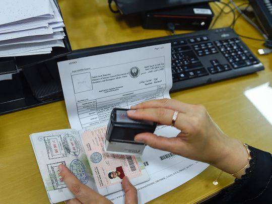 Visa, GDRFA