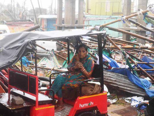 Cyclone Fani landfall in Puri 20190503