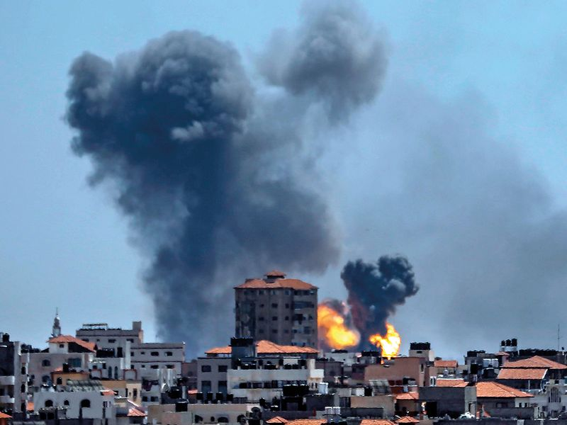 A picture taken from the Gaza Strip
