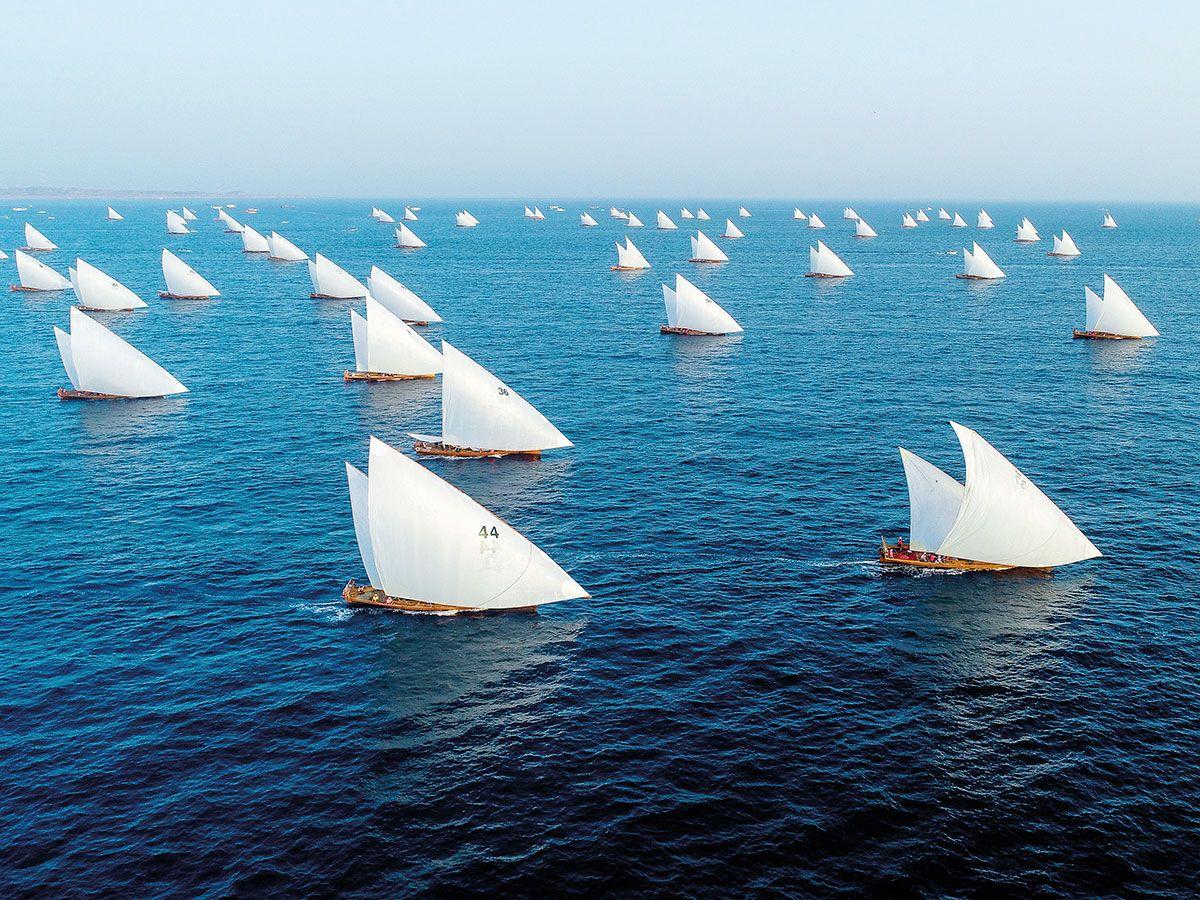 Al Gaffal traditional dhow race