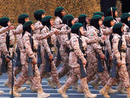 The women soldiers of UAE Armed Forces