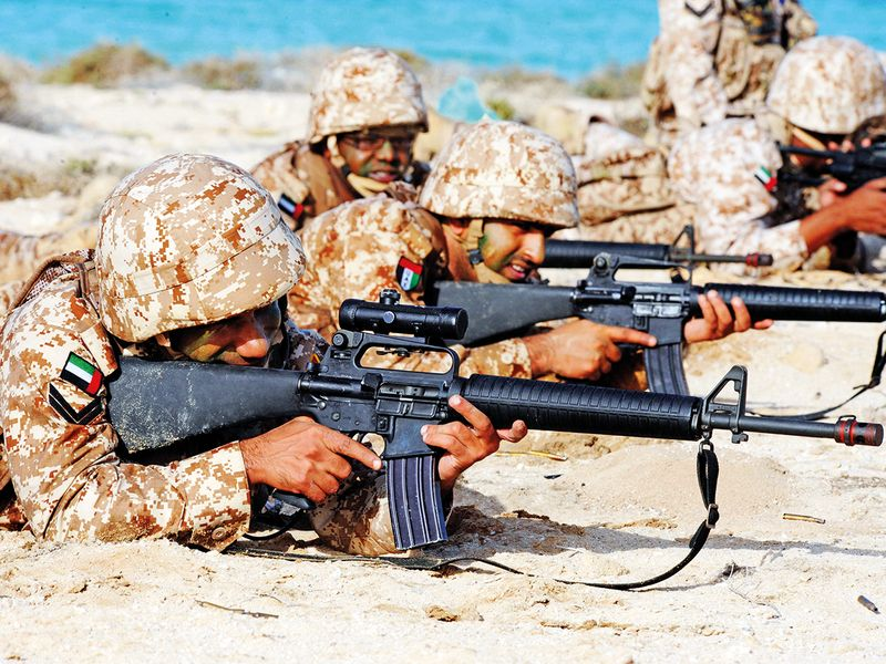 UAE armed forces in action