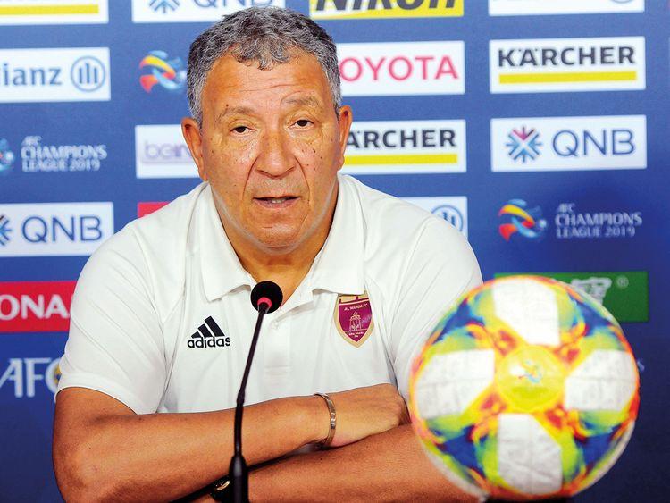 Al Wahda's coach Henk ten Cate