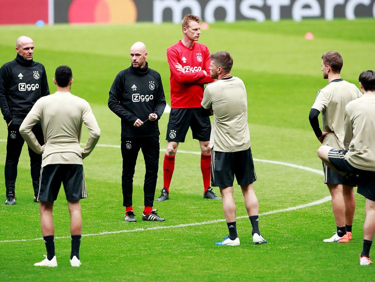 Ajax coach Erik ten Hag