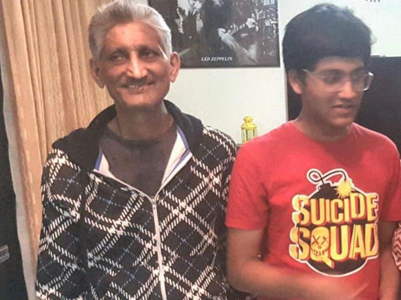 Aman with his father