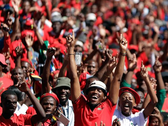 Supporters of the Economic Freedom Fighters