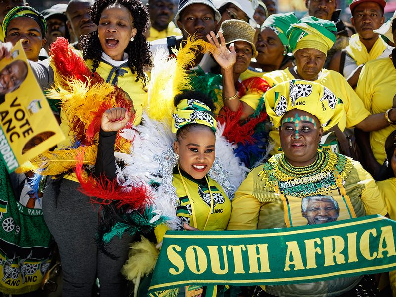 Supporters of the ruling African National Congress