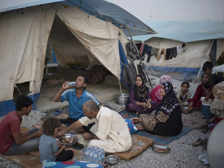 An internally displaced Iraqi family