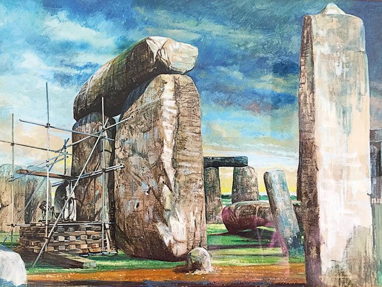 Archaeological excavations take place in Stonehenge