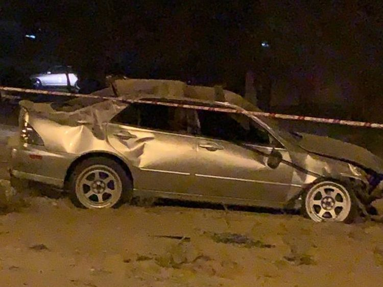 Car accident in Al Ain