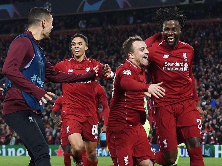 Liverpool's Belgium striker Divock Origi