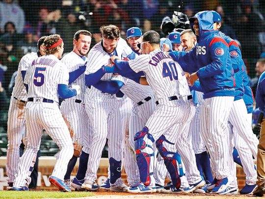 Members of the Chicago Cubs