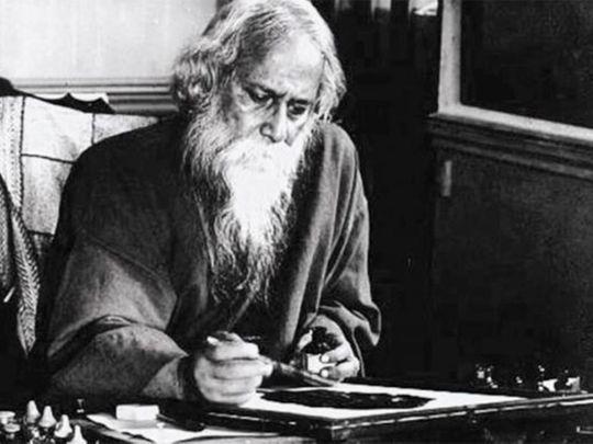 Nobel laureate Indian poet Rabindranath Tagore