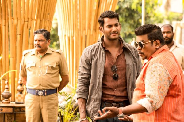 Vishal with Parthiban in Ayogya-1557297149038
