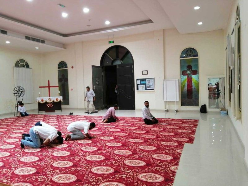 190512 prayers inside church