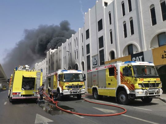 Fire near Abu Bakr Al Siddiqi metro station in Dubai