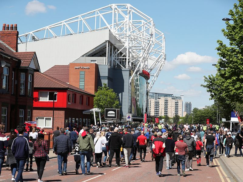 General view of fans walking towards the stadium