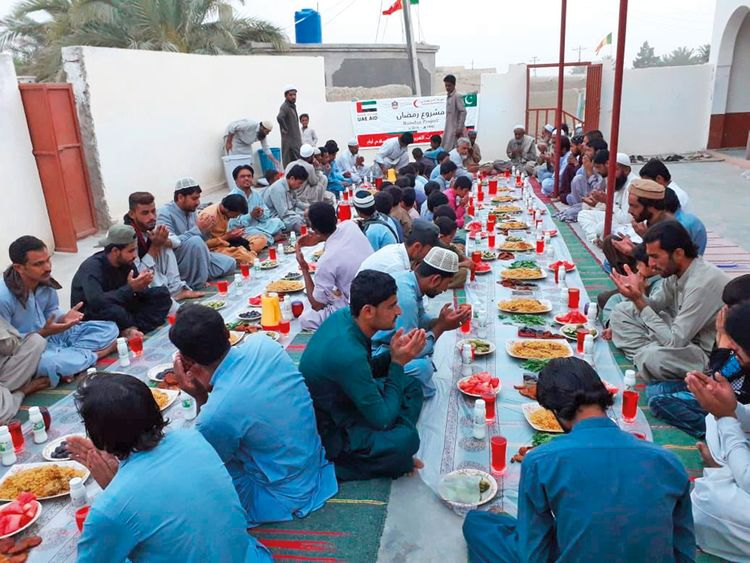 The UAE embassy's Iftar programme