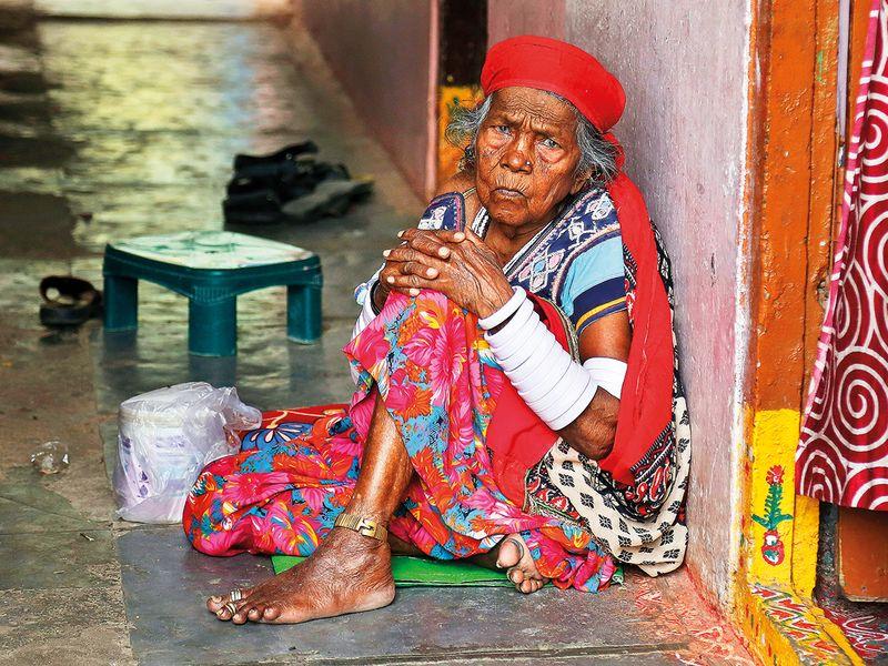 A 100 year old Lambada tribal Moti