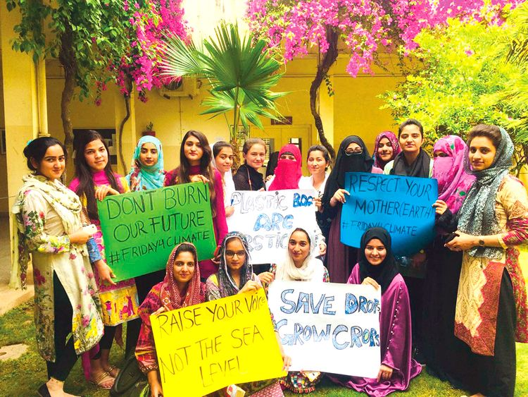 Students of Quaid-i-Azam University, Islamabad, have joined the Youth Climate Strike.