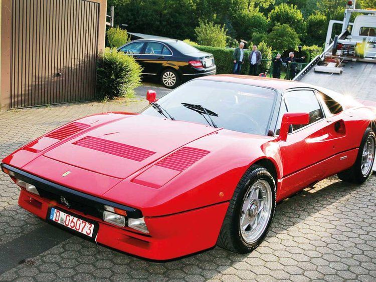 A Ferrari  288 GTO vintage car