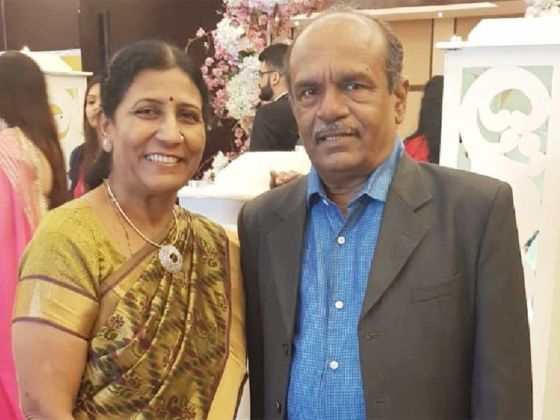 Gulabchand Geriya with his wife Heena Geriya