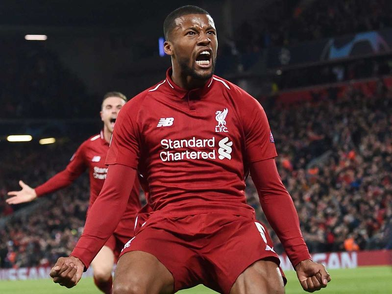 Liverpool's Dutch midfielder Georginio Wijnaldum