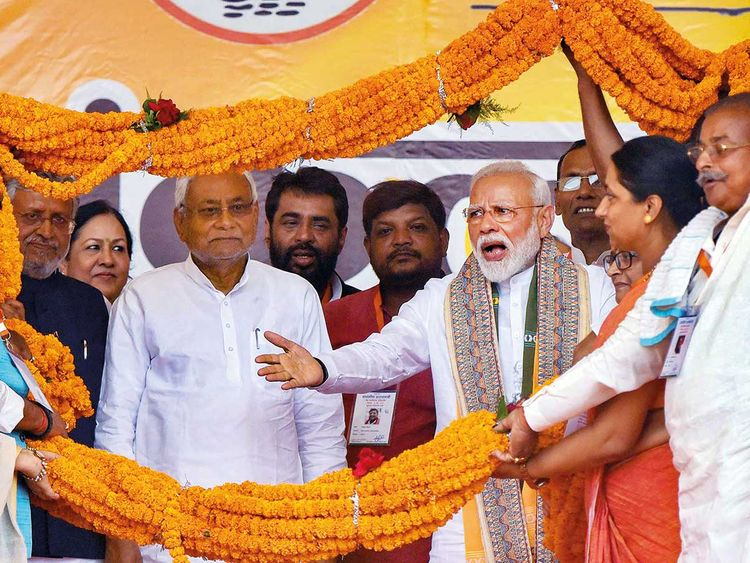 Prime Minister Modi and Bihar Chief Minister Nitish Kumar