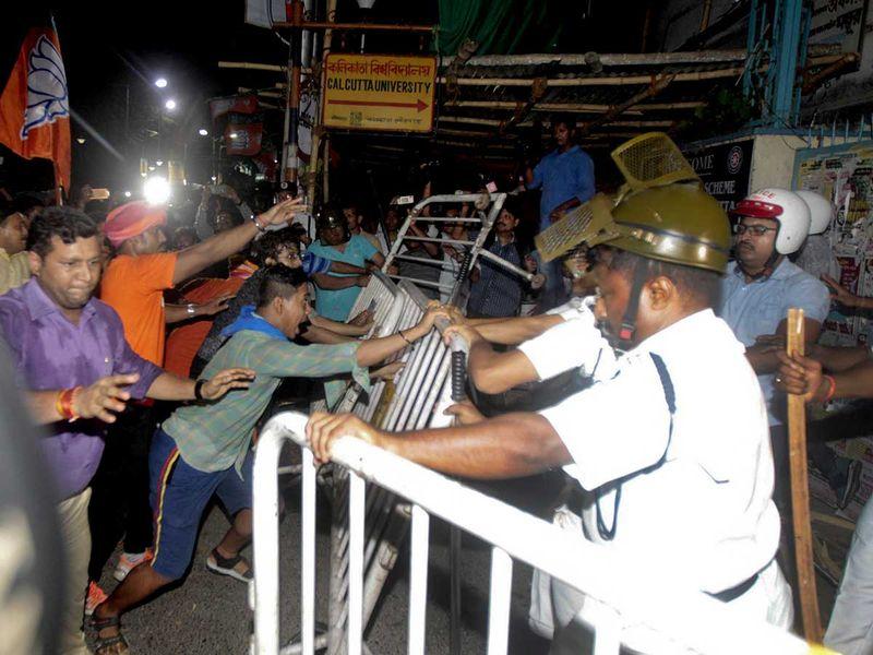 Supporters of Bharatiya Janata Party