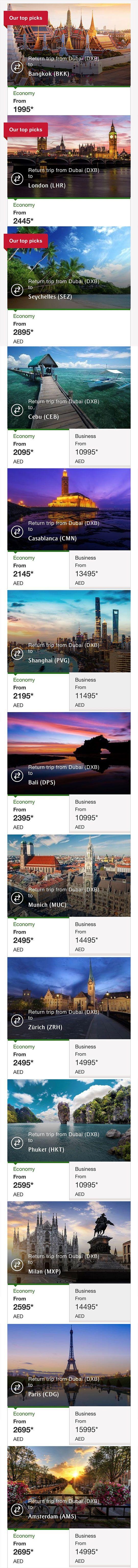 emirates eid fares
