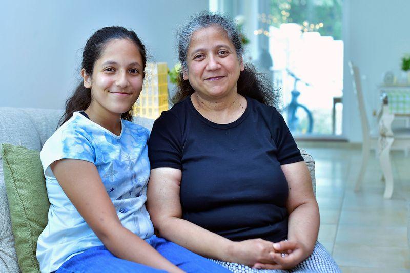 Naureen with her daughter, Gul
