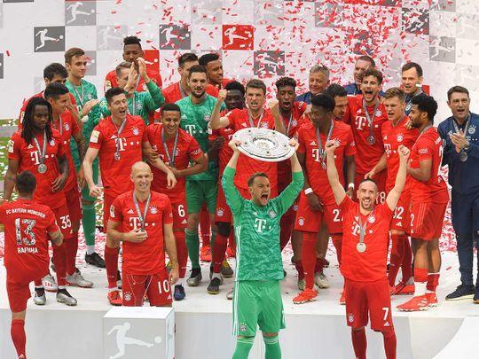 Bayern Munich's goalkeeper Manuel Neuer