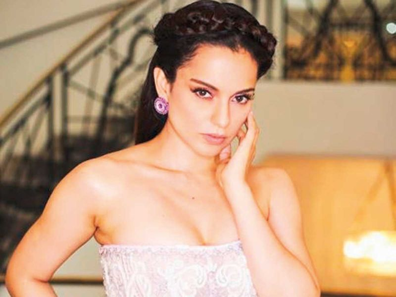 Kangana Ranaut in a Michael Cinco dress at the Cannes