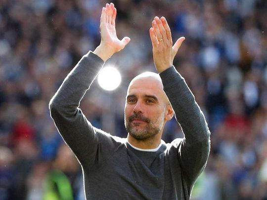 Manchester City coach Pep Guardiola