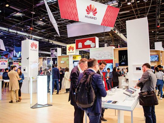 The Huawei stand at the Viva Technology conference