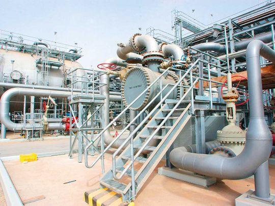 oil refinery in Haradh, Saudi Arabia