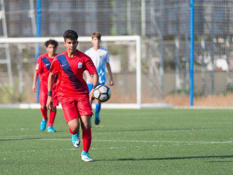 SPO-190519 Zayed Bin Waleed playing against Malaga CF for du LaLiga HPC i-1558266839583