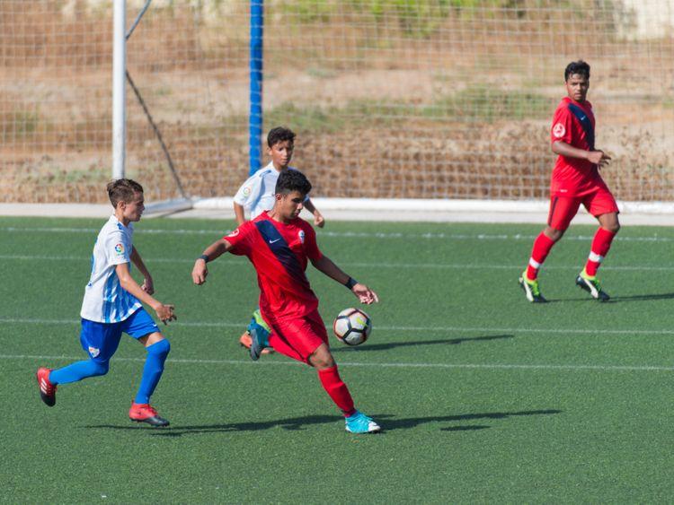 SPO-190519 Zayed Bin Waleed playing against Malaga CF for du LaLiga HPC ii-1558266843084